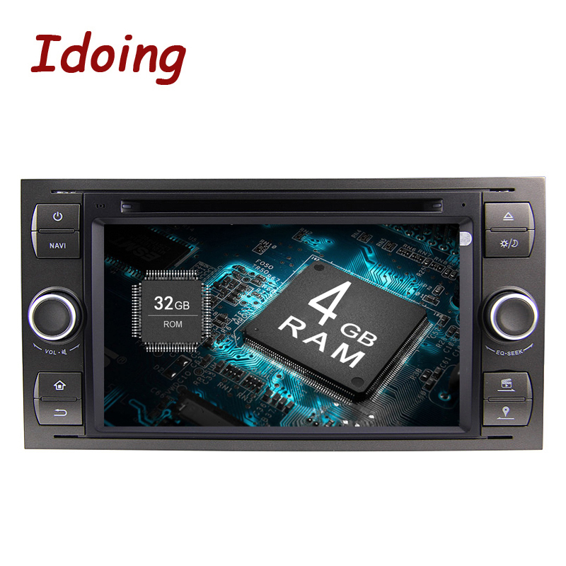 Idoing Android8.0/4G RAM/32G ROM/8Core/2Din For Ford Focus2 Mondeo MAX Steering-Wheel Car DVD Multimedia Video Player Fast Boot