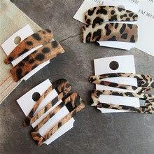 2 шт Девушки заколки в виде леопарда новые леопардовые заколки зажим для волос ювелирные изделия Акриловые зажимы для волос для девочек Hairgirp аксессуары для волос