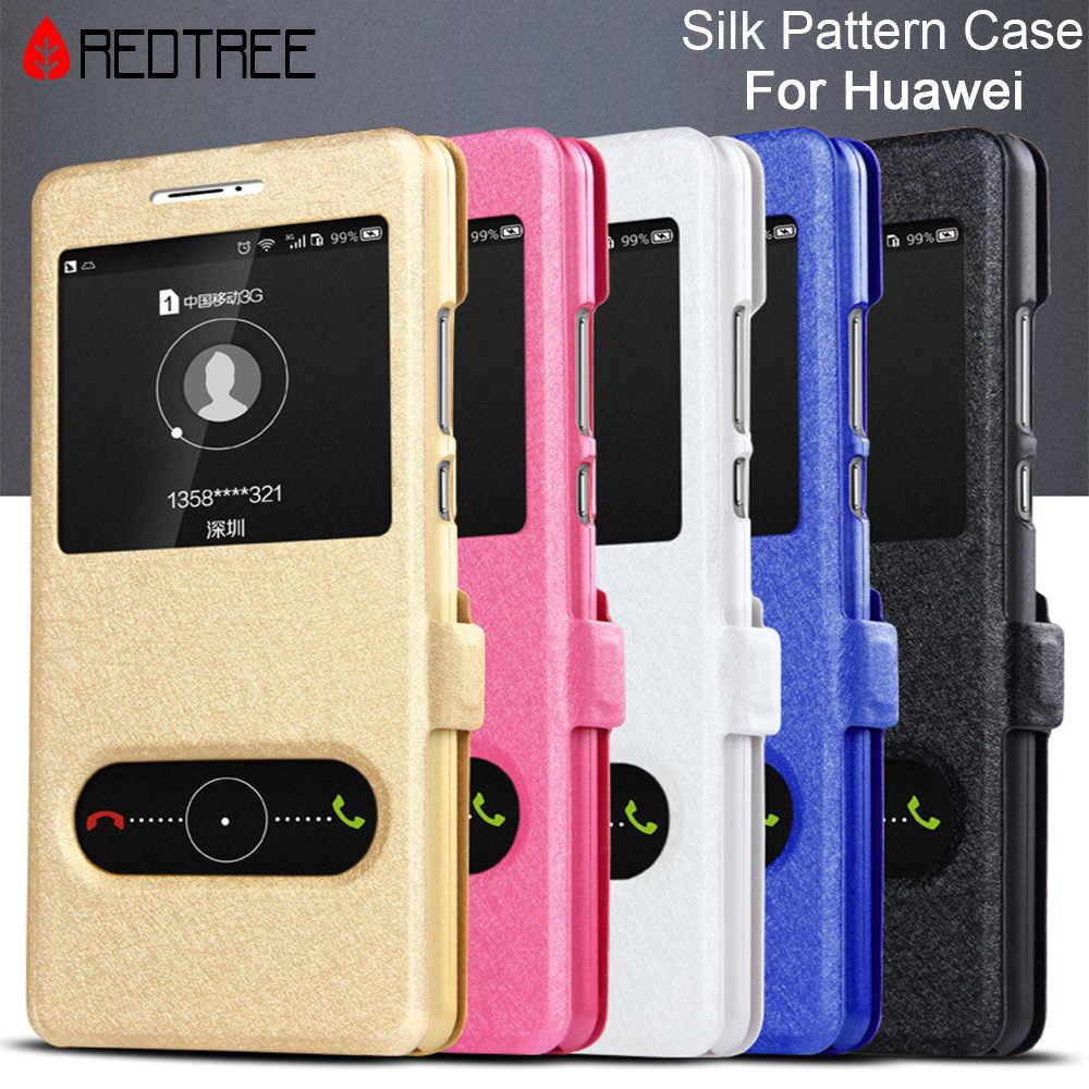 Huawei P7 P8 P9 P10 Lite Plus 2017 Silk Pattern Leather Case for Honor 7 8 9 5X 6X 7I Nova 2 Plus Mate 7 8 9 Y3 Y5 Y6 ii 2017