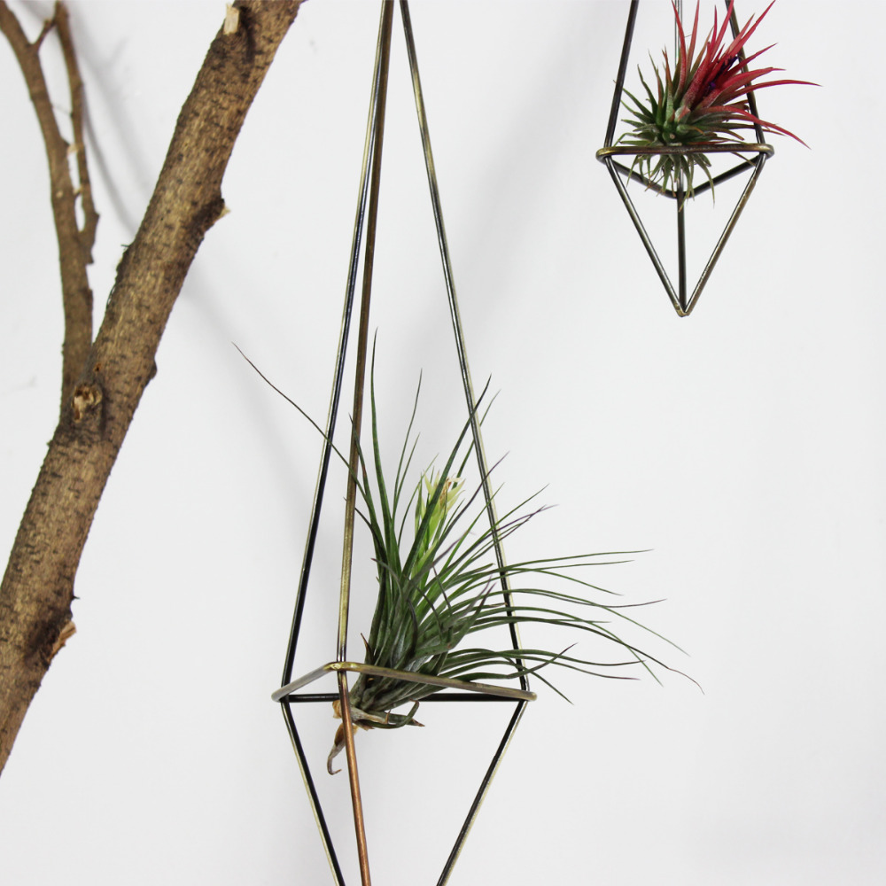 Freestanding Hanging Planters Geometric Himmeli Swing