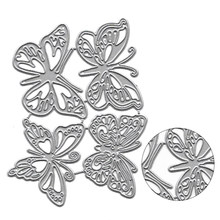 4 Pcs Butterfly Pattern Metal Cutting Dies Knife Mold Handcrafts Making Embossing Stencils DIY Scrapbooking Craft Photo Card(China)