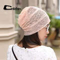 Spring Autumn cap style female turban caps  fashion street hats for women lace beanies thin Skullies hat
