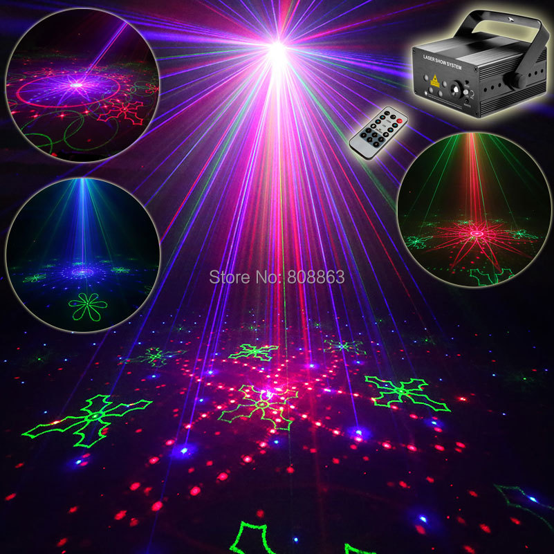 Eshiny Mini RGB 5 Lens 80 Patterns Laser Projector Blue Led Club Home Party Bar DJ Holiday Disco Xmas Dance Lighting Light l80rb mini rgb led party disco club dj light crystal magic ball effect stage lighting