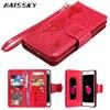 HAISSKY Leather Case For IPhone 7 7Plus Plus 6 6S 6plus 5 5S SE Wallet Case