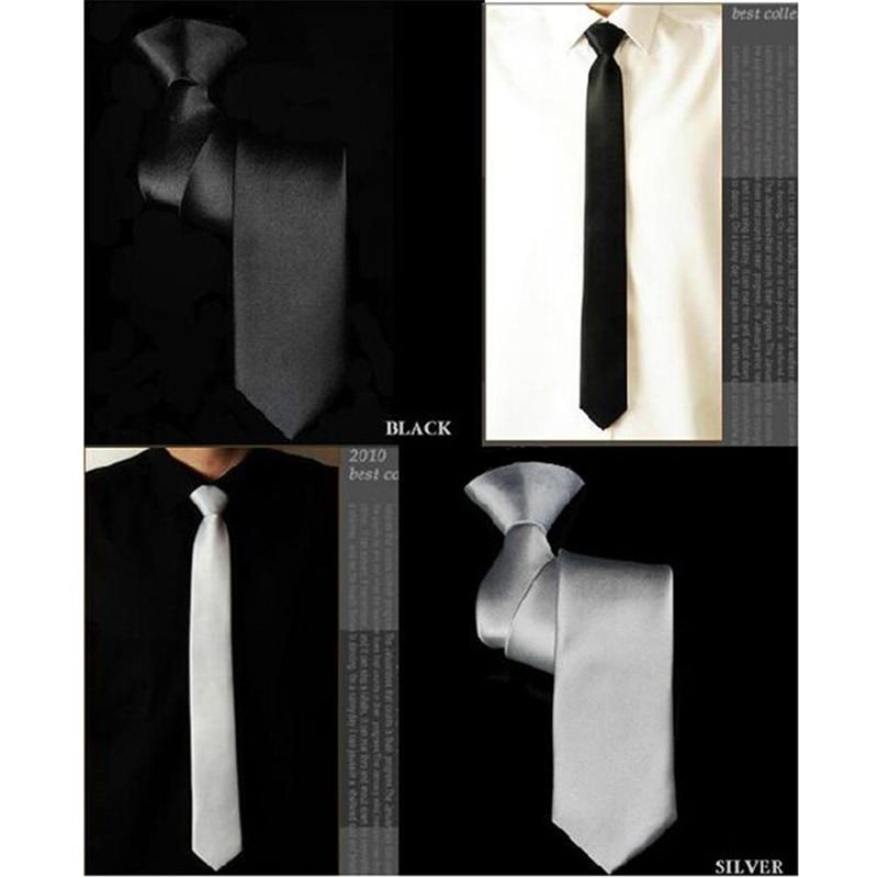 SHENNAIWEI 20 Color High Quality Men Necktie Skinny Tie 5cm Polyester Gravatas Masculinas Slim Corbatas Hombre Black White Lote