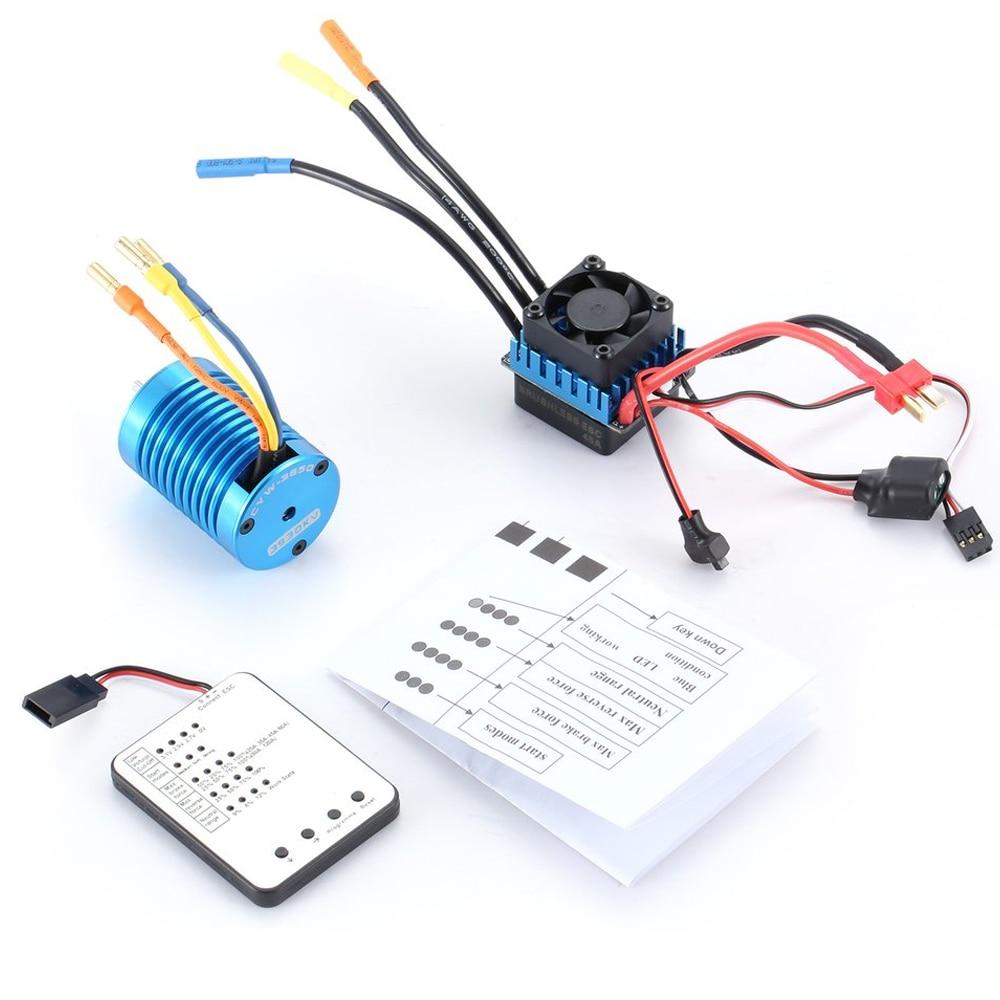 F540 3930KV 4 poles Sensorless Brushless Motor 45A ESC with LED Programming Card Combo Set for