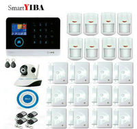 SmartYIBA Android IOS APP Home Security WIFI GSM GPRS Alarm French Russian Polish Italy Voice WIFI