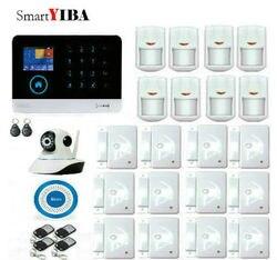 SmartYIBA aplikacja na Android i iOS bezpieczeństwa w domu WIFI GSM GPRS Alarm francuski rosyjski polski włochy głos WIFI IP kamera bezprzewodowa syrena