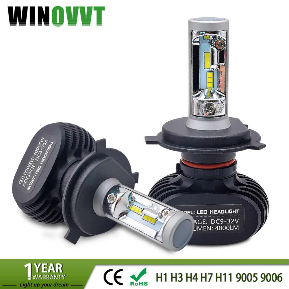 Auto H3 Led H7 H1 H11 H8 H9 9005 HB3 9006 HB4 Led H4 Car Light Bulb 50W 8000LM Automobile Headlight Fan-less Fog Lamp 6000k 12V