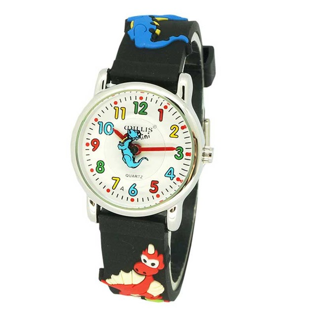 New Fashion Kids Watches Children big dinosaur 3D cartoon Silicone Wristwatches