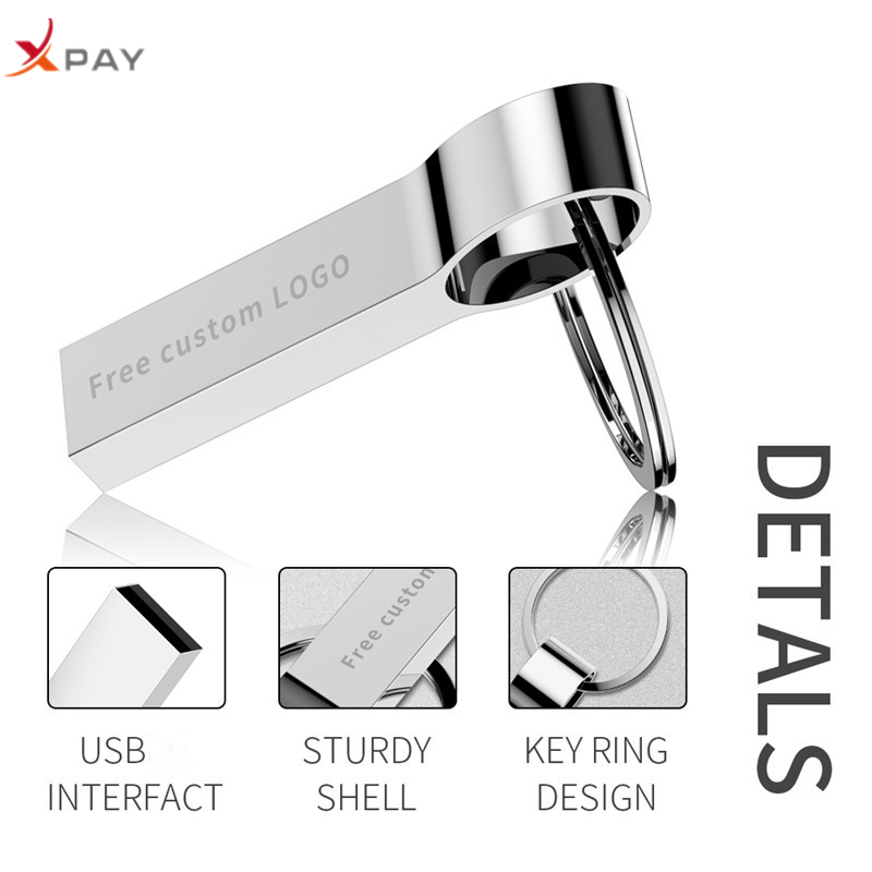 Image 5 - XPAY 2.0 silver usb flash drive 32GB high speed pendrive 4GB 8GB 16GB 64GB 128GB usb stick bracelet pen drive Free Custom Logo-in USB Flash Drives from Computer & Office