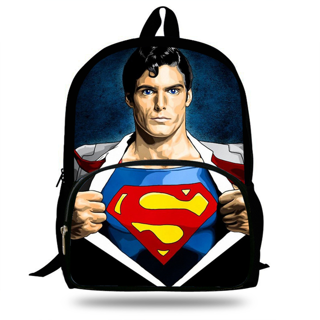 f6c62d7c66 16inch Kids Mochila Cool Justice League School Bags Superman Backpack For Boys  Travel Bag Girls Gift Teengers Bookbag