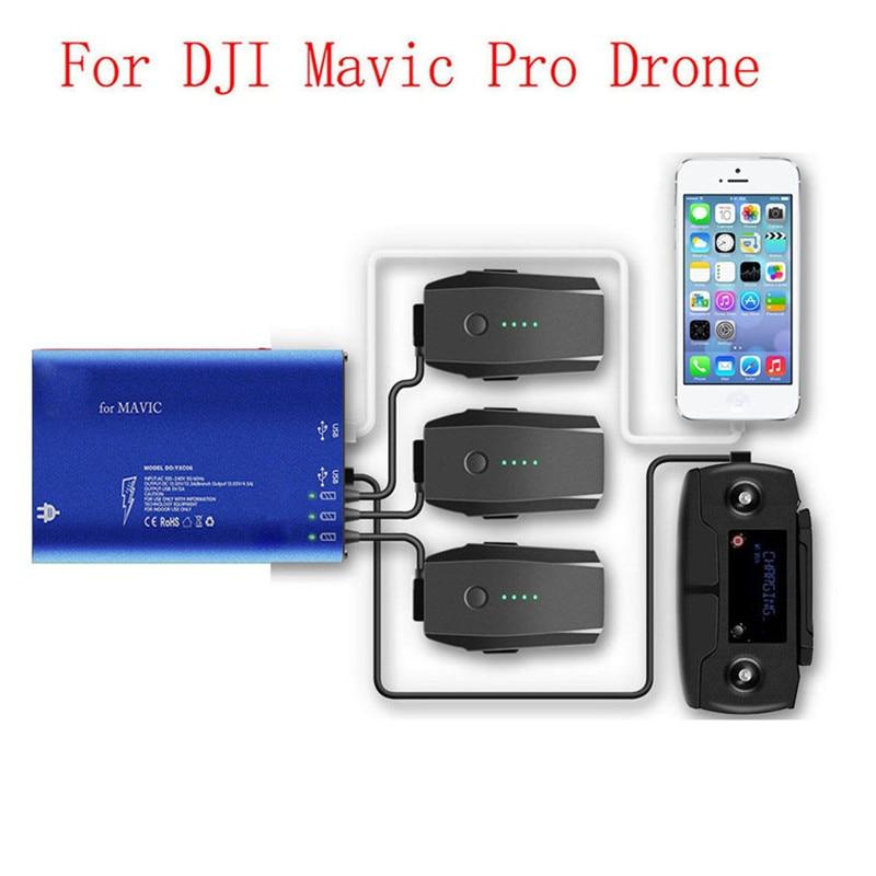 все цены на Sunnylife 5 in1 DJI MAVIC PRO Parallel Battery Charging Hub Dual USB Phone Charger Intelligent Remote Controller Charge онлайн