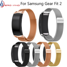 Stainless Steel Milanese Watch Strap Wrist band for Samsung Galaxy Gear fit 2 SM-R360 Magnetic Loop Bracelet for Samsung fit2