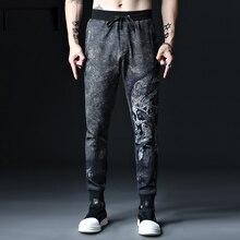 Большие размеры 2xl-7xl 8XL 52 54 мужские тренировочные брюки хип-хоп хлопковые повседневные мужские высокоэластичные длинные брюки Большой размер Брюки