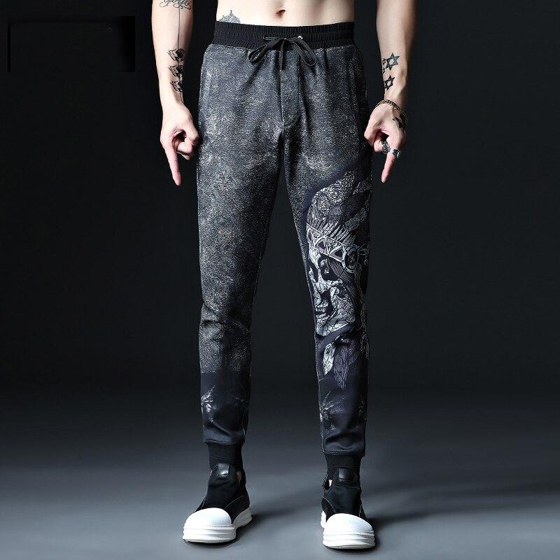 Plus Size 2xl-7xl  8XL 52 54 Mens Sweatpants Hip Hop Cotton  Casual Men Highly Elastic Long Trousers Large Big Size Pants
