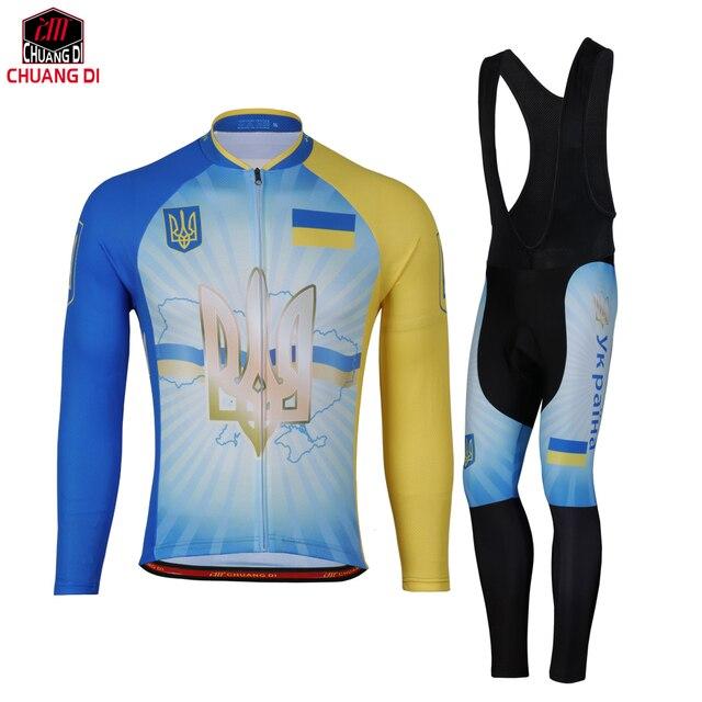 Ucrania Bandera Nacional Ciclismo Jersey Mtb bicicleta Ciclismo Ropa  Ciclismo Popular hombres primavera otoño estilo 938f1485f0af3
