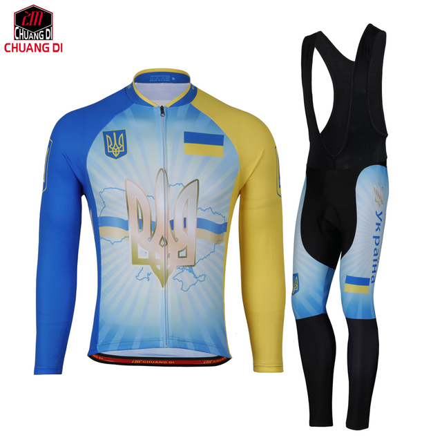 Ukraine National Flag Cycling Jersey Mtb Bike Cycling Clothing Ropa Ciclismo  Popular Men Spring Autumn Style d9c80469f