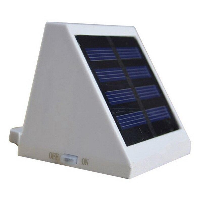 Solar Power Panel 4 Led Fence Gutter Light Outdoor Garden
