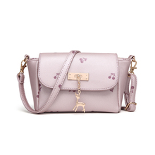 2016 Mini Cherry Bag Fashion Women Shoulder Bag Girls Daily Messenger Bag With Beer Metal Accessories Cute And Candy Bag