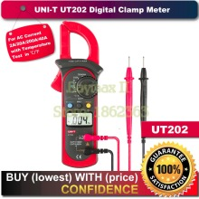 UNI-T UT202 Digital Clamp Multimeters DMM DCV ACV Auto Range Temperature