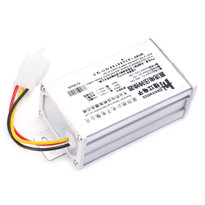 DC 36V 48V 72V To <font><b>12V</b></font> 10A 120W Converter <font><b>Adapter</b></font> Transformer For E-bike Electric image