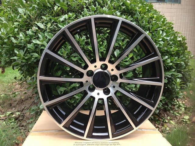 Free Shipping 19 BLACK MACHINED FACE FOR BENZ SPORT RR STYLE RIMS WHEELS W813