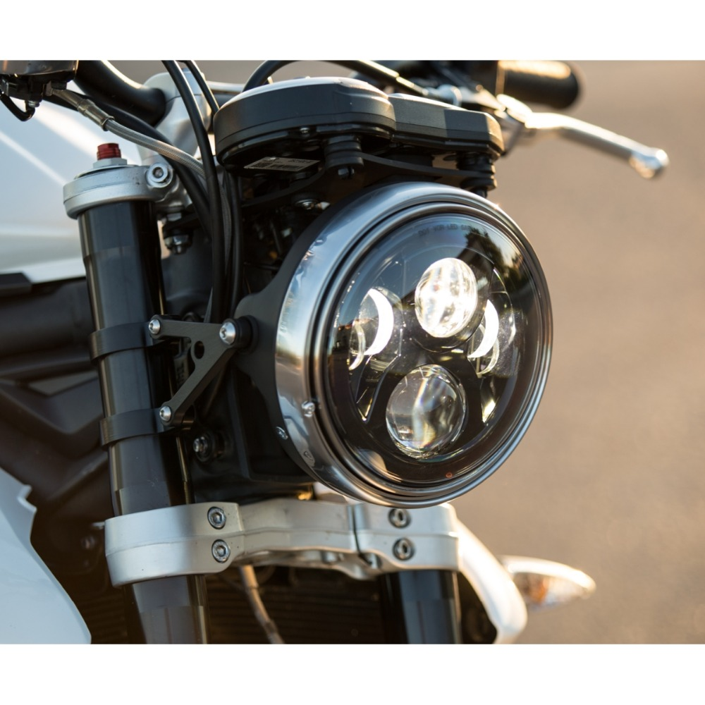 LED 7 Inch Harley Motorcycle Accessories 7 Motorcycle Projector Daymaker Hi/Lo Light Bulb Headlight For Harley Jeeep Wrangler 7inch 75w motorcycle black hi lo beam projector daymaker led chips headlight for harley