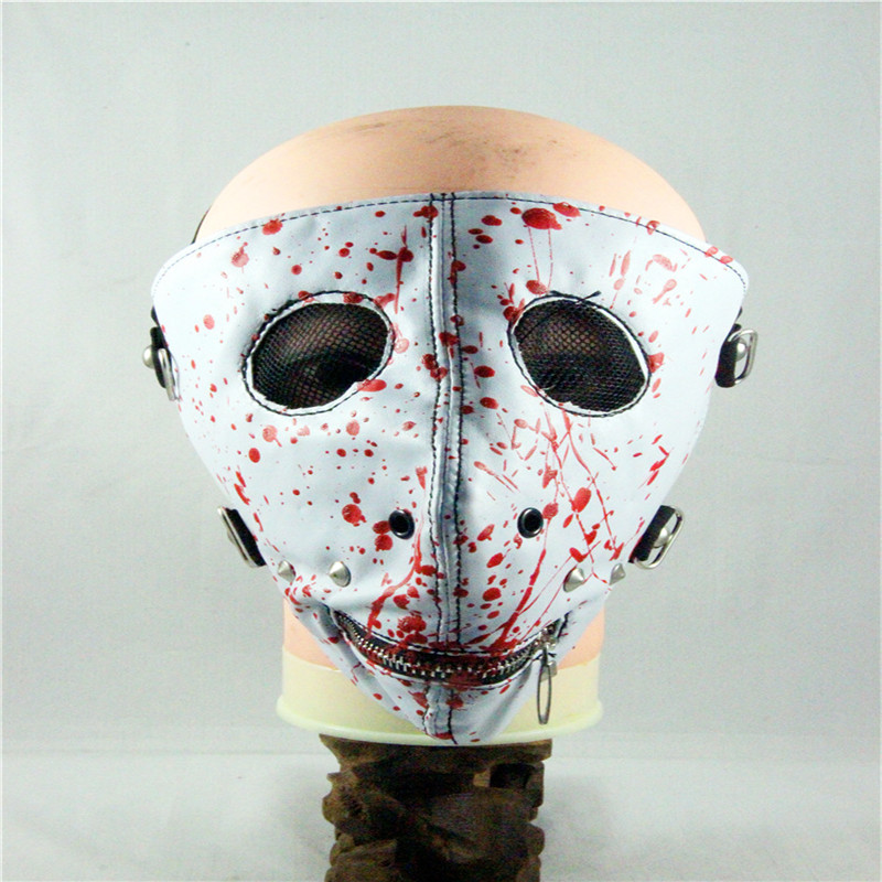 10pcs/Pack European And American Style New Personality Zipper oil Fashion Mask Punk Rock Trend Masks Crash Nail Mask тарелка крэш zultan 18 rock beat crash