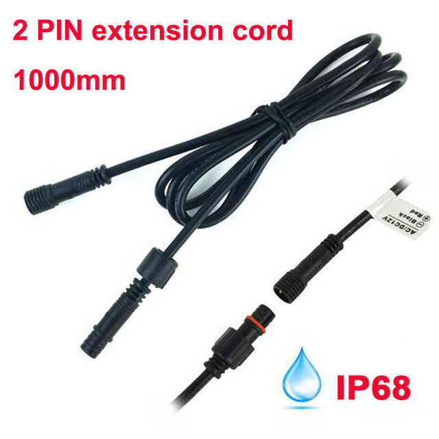 2PIN 1meter IP67 Waterproof Extension Cable/Connect Wire/Power ...