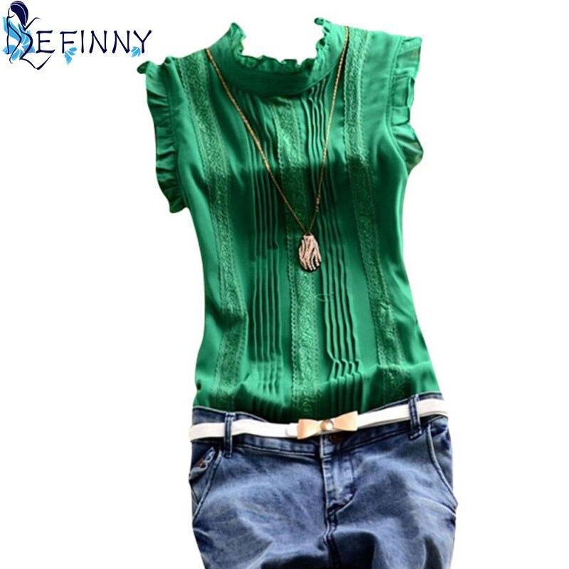 Retro stílusú női reffle ing sifon blúz irodai hölgy alkalmi - Női ruházat