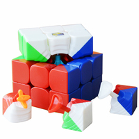 zhisheng-yuxin-little-magic-55cm-3x3x3-cube-stickerlessblack-professional-puzzle-speed-cubo-magico-toys-for-children-kids