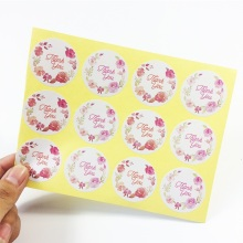 "120 Pcs/lot Vintage Round Flower Rose ""Thank you"" Sealing Packaging Label Sticker For Shop Baking Package Label Gift Decoration"
