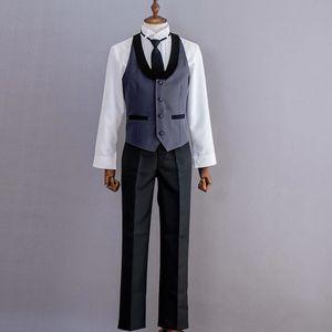 Костюм для косплея, черный Батлер Kuroshitsuji Себастиан микаелис, Черная форма, одежда на Хэллоуин, костюмы для женщин и мужчин