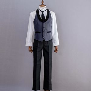 Image 5 - New Anime Black Butler Kuroshitsuji Sebastian Michaelis Cosplay Costume Black Uniform Outfit Halloween Costumes for Women Men
