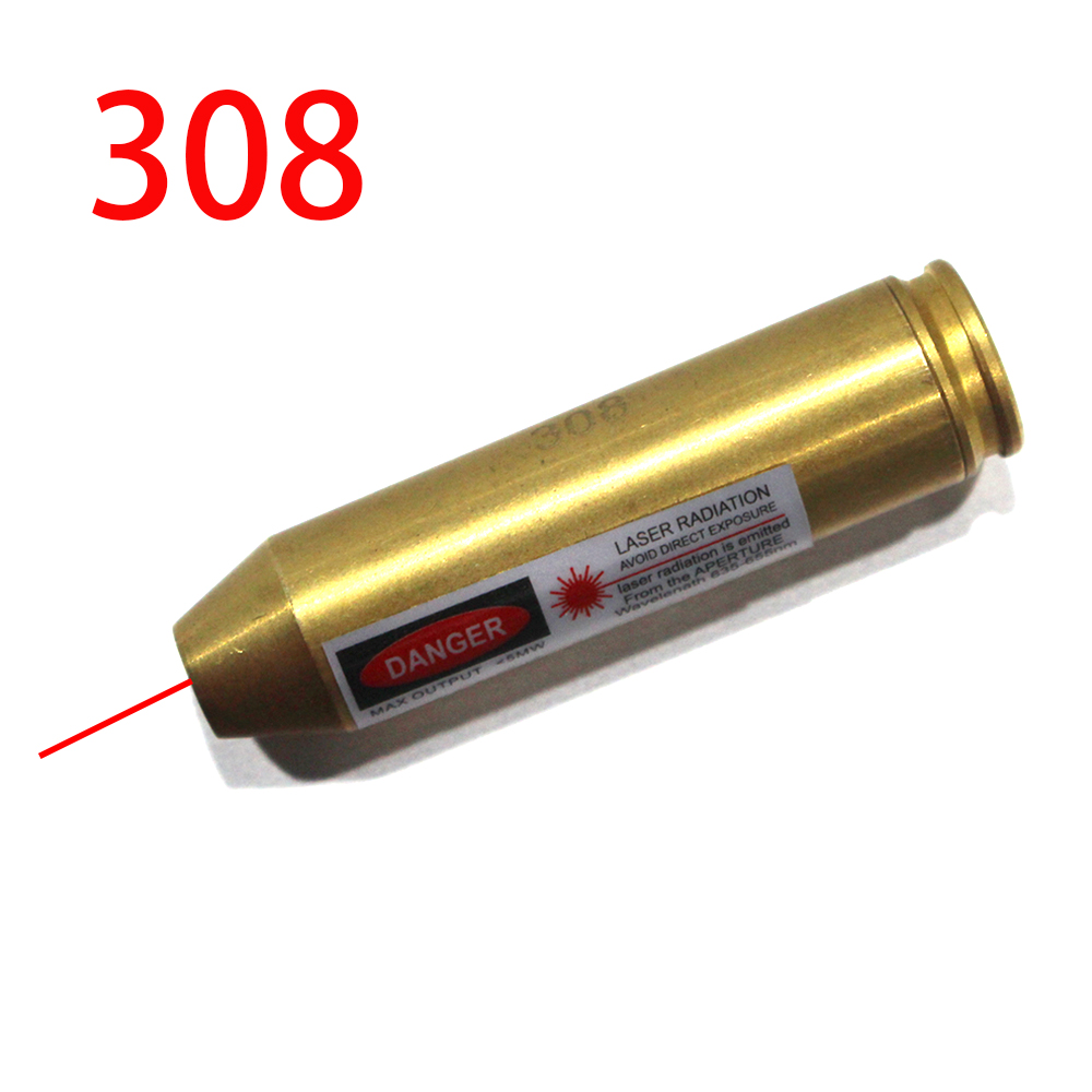 Laser Bore Sighter Red Dot 308 Cartridge Boresighter Tactical Airsoft Bore Sight 308 Cartridge Red Dot Laser For Shooting