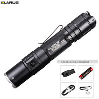 New Flashlight KLARUS XT2CR CREE XHP35 HD E4 LED max. 1600LM beam distance 240M tactical torch +18GT 36 3600mAh battery + cable