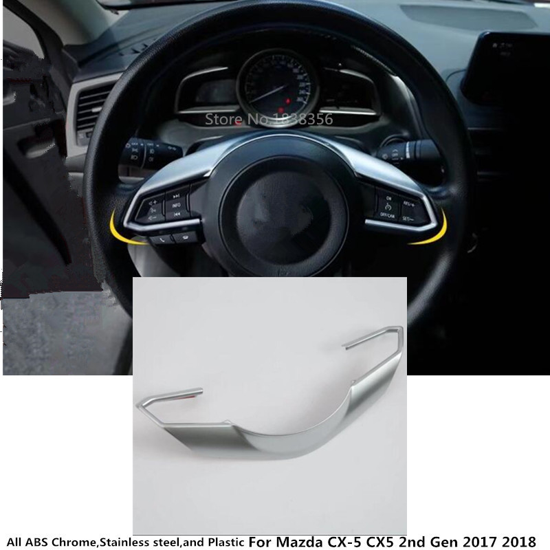 For <font><b>Mazda</b></font> CX-5 <font><b>CX5</b></font> 2nd Gen 2017 2018 2019 car <font><b>body</b></font> cover styling Steering wheel Interior <font><b>Kit</b></font> switch Trim lamp frame 1pcs image