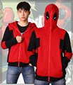 Free shipping High Quality  Super Hero Deadpool Hoodie Sweatshirt Cosplay Costume