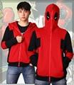 Free shipping High Quality  Super Hero Deadpool Hoodie Sweatshirt Cosplay Costume