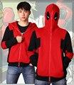 O envio gratuito de alta qualidade Super herói Deadpool camisola do Hoodie Cosplay traje