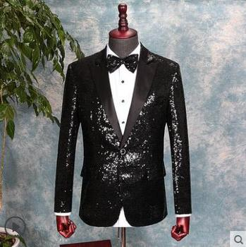 Chorus clothes men suits designs masculino homme stage costumes for singers jacket men sequins blazer star style dress black