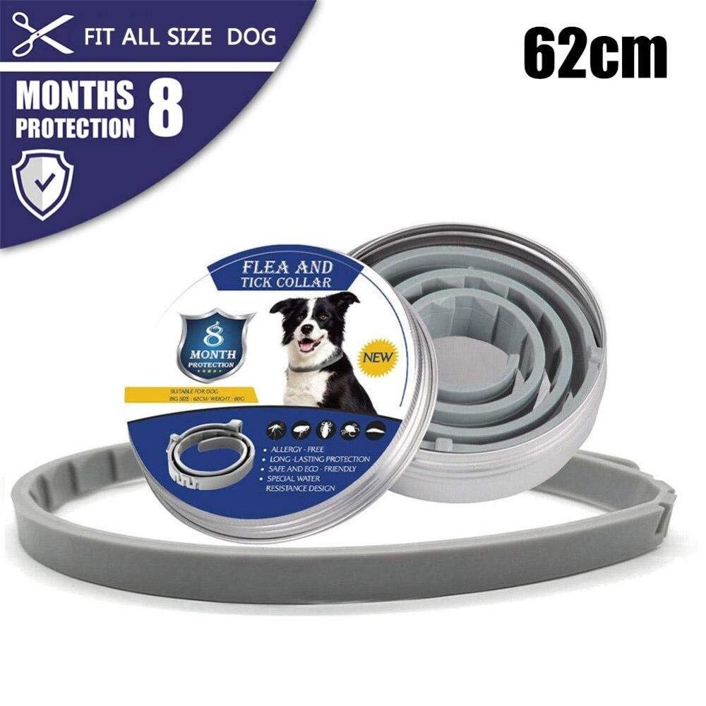 Collier pour chien Anti puces tiques moustiques extérieur réglable collier pour animaux accessoires chat 8 mois Protection longue durée