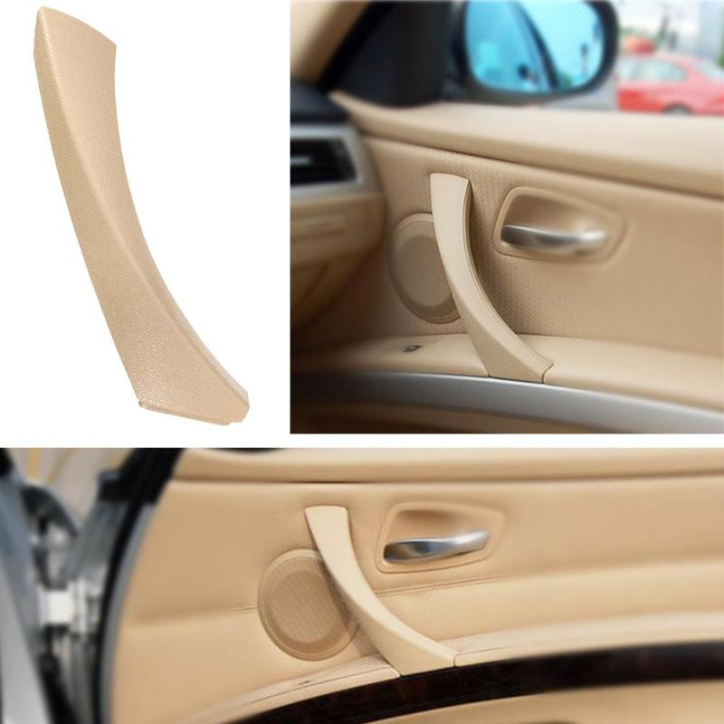 LEFT REAR BEIGE INNER OUTER DOOR PANEL HANDLE PULL TRIM COVER FIT BMW E90 328i