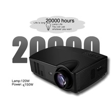 2018 NEW Sv-328 Projector Business Home Wireless With Screen Led Projector 10800p High Definition AU-Black
