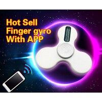2017 Intelligent LED Fidget Spinner Light Up Hand Spinner APP Control Top Finger Spinner Anti Stress