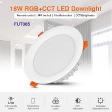 Milight 6W/9W/12W/15W/18W RGB+CCT LED Downlight Dimmable LED Ceiling Spotlight AC110V 220V FUT062/FUT063/FUT066/FUT068/FUT069 milight ac110v 220v 15w ip54 waterproof rgb cct led downlight dimmable ac86 265v round reccessed light fut069 2 4g