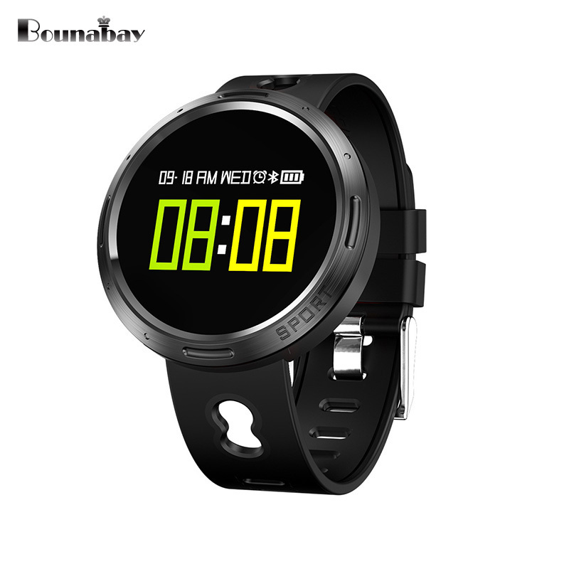 BOUNABAY Multi-lingual Bluetooth Smart touch screen watch man sports watches for apple Android ios phone men Clocks men's clock bounabay multi lingual smart bluetooth bracelet watch for women touch watches android ios phone ladies waterproof lady clock