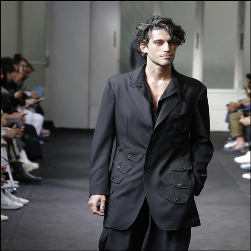 S-6XL 2019 nouveaux hommes costumes veste style britannique à manches longues simple boutonnage mode blazers occasionnels scène défilé modèles costumes