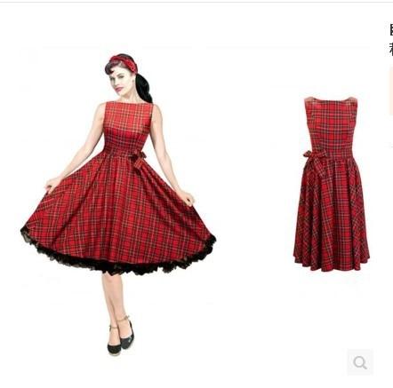 895bc3b94037 Listrado retro vintage 50 s 60 s vestido de Audrey Hepburn estilo europeu  outono e inverno